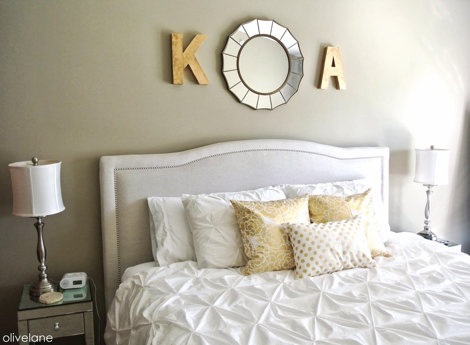 Olive Lane: Master Bedroom Update : Gold & White
