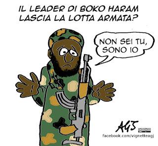 boko haram, Abubakar Shekau, satira, vignetta