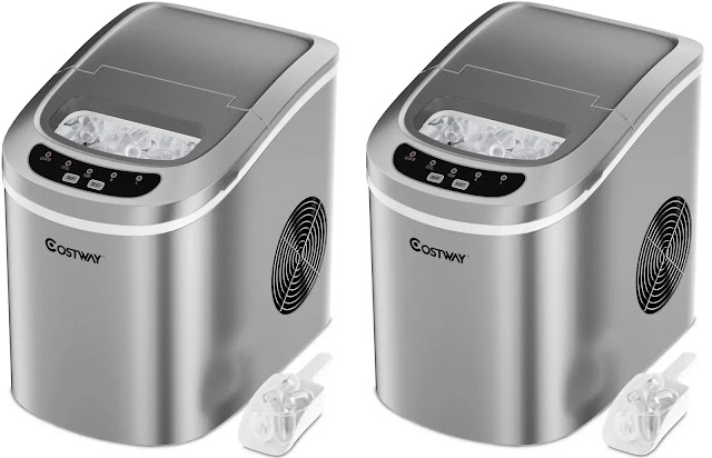 6. Costway Portable And Compact Ice Maker Machine