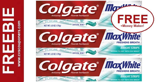 Free Colgate Max Toothpaste at CVS