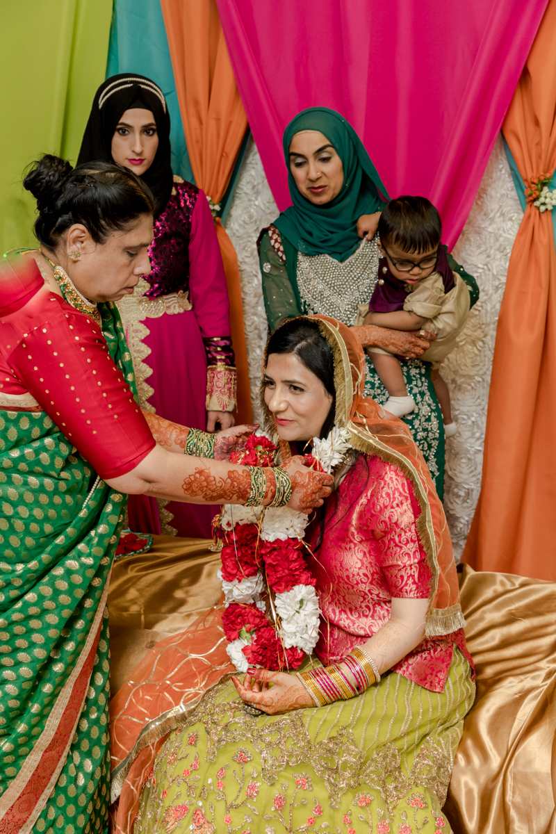 the Mangala Sutra is tied around the bride's neck instead of exchanging rings.