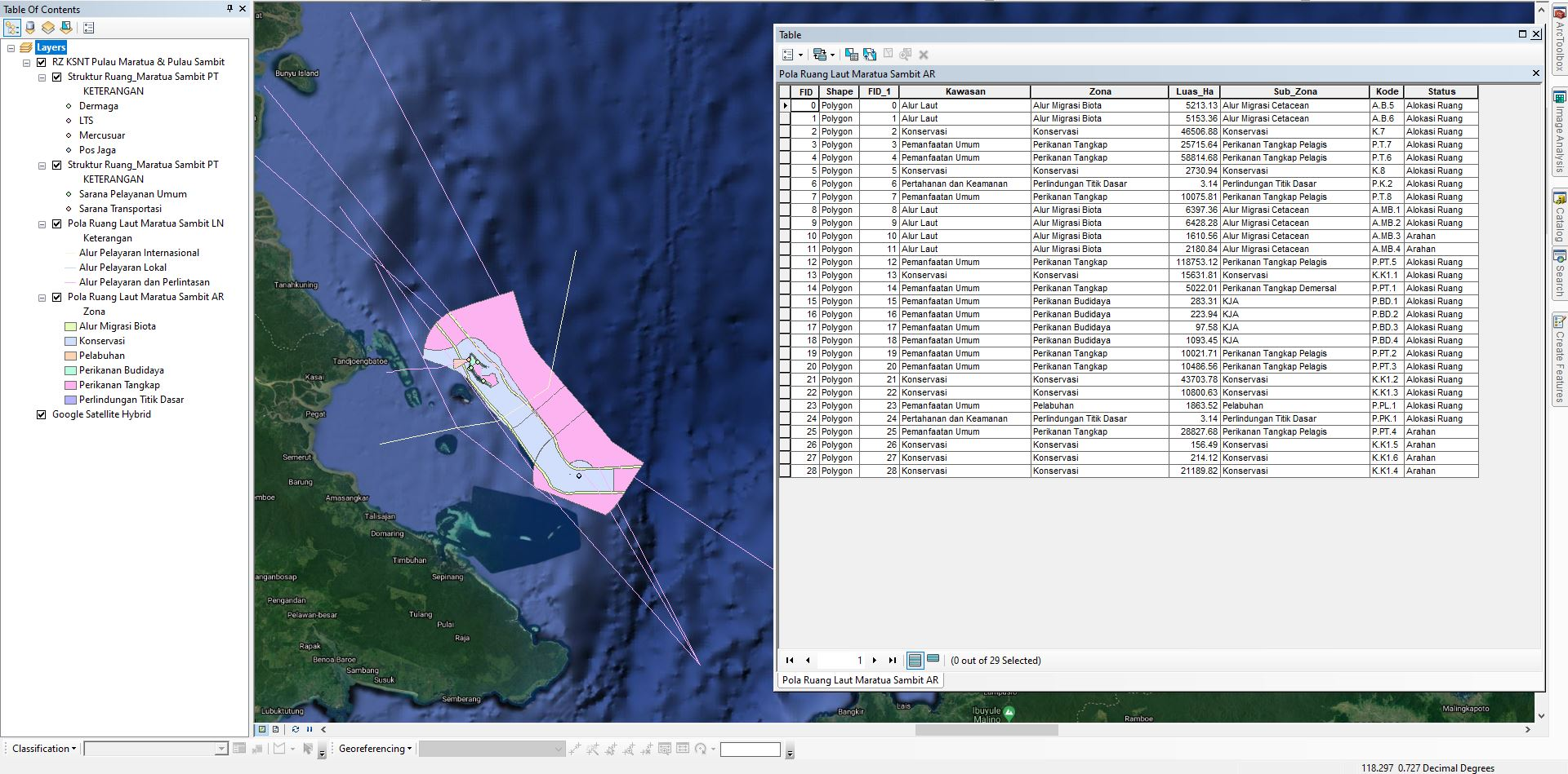 Data Shapefile (SHP) RZ KSNT Indonesia