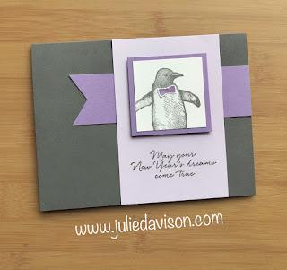 Stampin' Up! Playful Penguins Card ~ 2019 Holiday Catalog ~ Nov/Dec Stamp of the Month Club Card Kit ~ www.juliedavison.com #stampinup