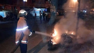 Kepolisian Masih Lakukan Penyelidikan Terkait 1 Motor Terbakar Saat Tawuran