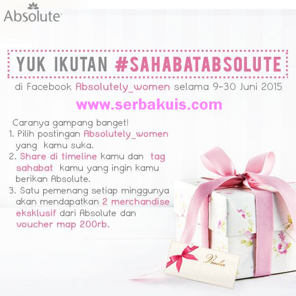 Kuis Sahabat Absolute Berhadiah Voucher MAP 200K & Merchandise per Minggu