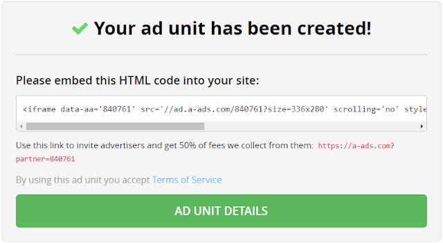 gres yang tidak kalah terkenal dikalangan blogger maupun website Advertising Baru A-ads Daftar Sekarang