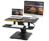 Logo Vinci gratis Standing Desk Songmics tavolo da lavoro in piedi regolabile
