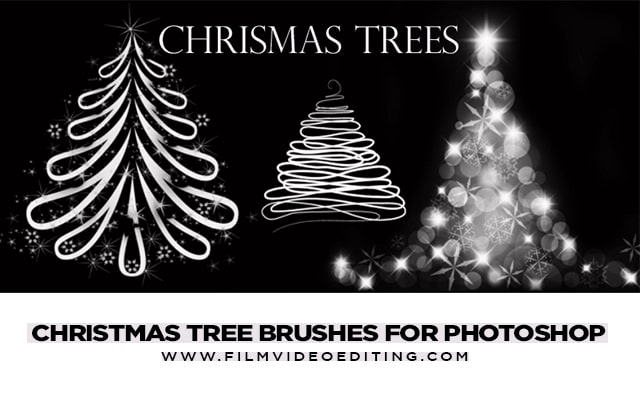 Christmas Tree Brushes For Photoshop