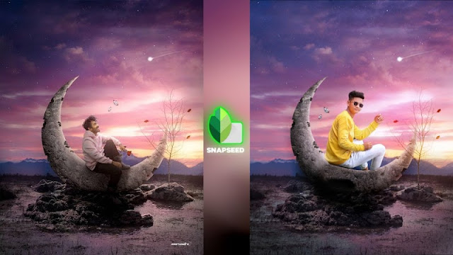 Snapseed Critive Moon Photo Editing | Snapseed Background Change | Snapseed Photo Editing