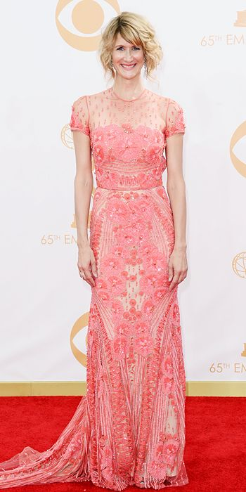Laura Dern in a Naeem Khan gown with a Dionea Orcini ring at the 65th Annual Primetime Emmy Awards, 2013