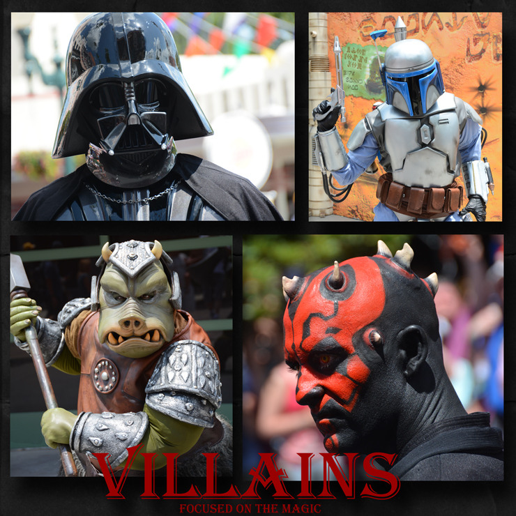In celebration of Halloween this weekend our theme is Villains. I chose a cast of characters from Star Wars Weekends at Disney's Hollywood Studios®