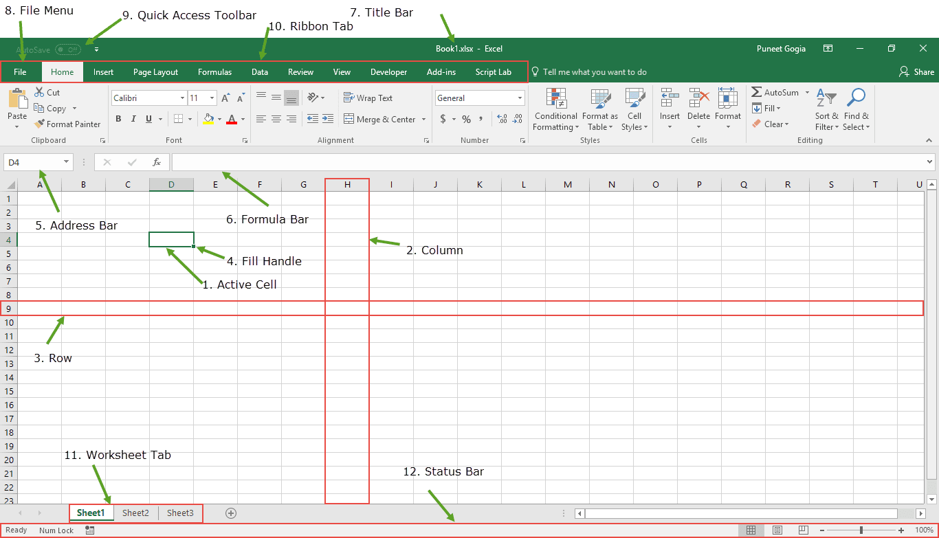 Meri Duniya Easy Notes On Ms Excel In English