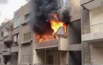إندلاع حريق داخل شقة سكنية فى جرجا بسوهاج