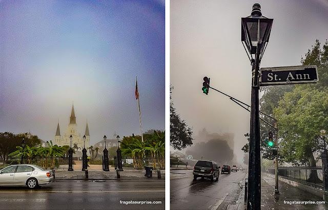 Chuva em Nova Orleans