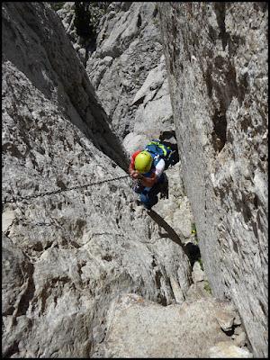Calderer, descenso con cadenas