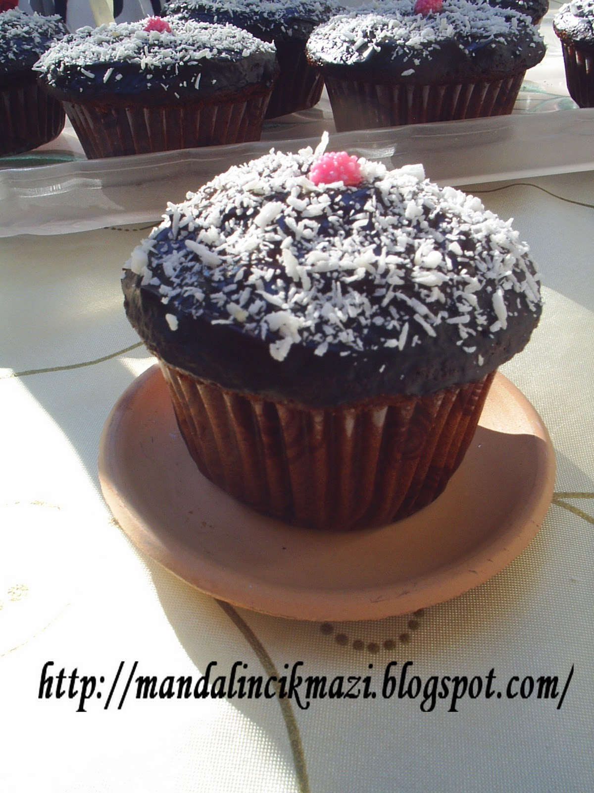 Çikolata Soslu Kakaolu Cevizli Muffin