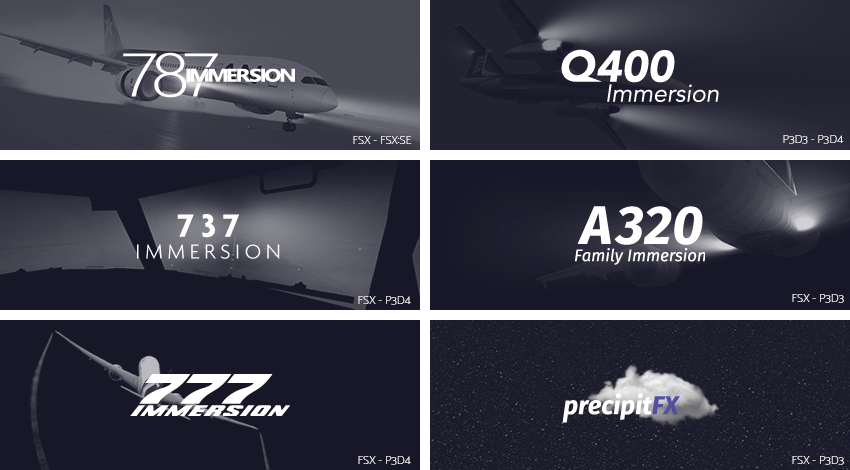 FSX/FSX:sE/P3DV3/P3DV4] PrecipitFX + A320/737/777/787/Q400