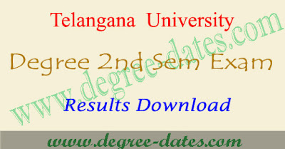 TU degree 2nd sem results 2017 telangana university ug result date