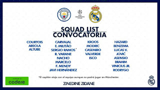 La Lista de Zidane para Visitar al City