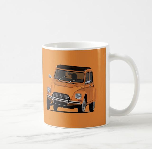 Customizable Citroën Dyane coffee mugs