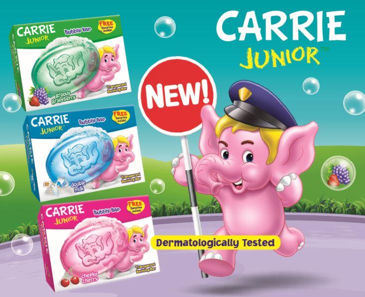 produk carrie junior, penjagaan kebersihan anak, hadiah untuk si comel