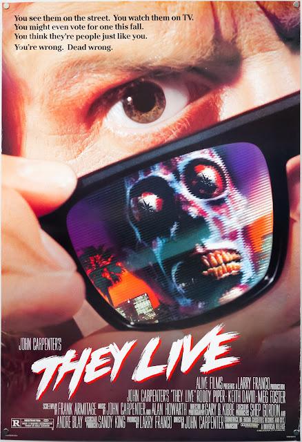 Póster película They Live (Están vivos)