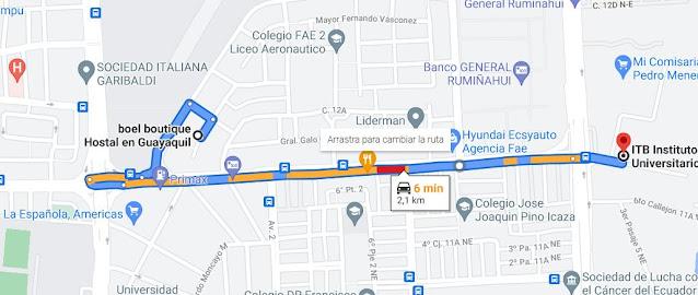 Hotel cerca del ITB (Instituto Tecnológico Bolivariano)