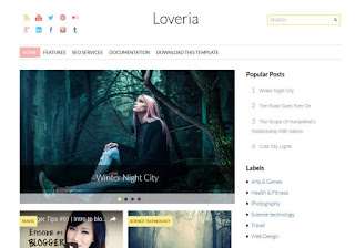 Loveria Beauty Blogger Template