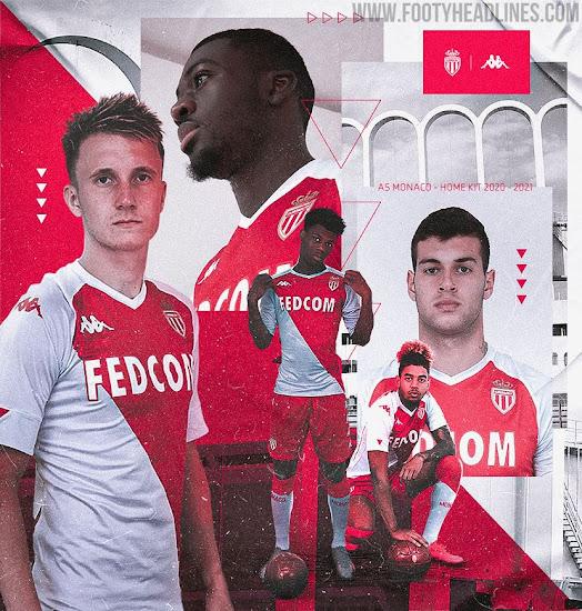Chorrito Adicto Deflector  AS Monaco 20-21 Home Kit Released - Footy Headlines