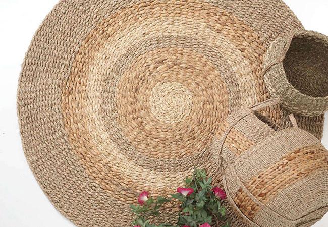 Καλοκαιρινό Ψάθινο Χαλί: Makan Natural Royal Carpet