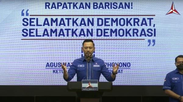 5 Poin Pernyataan AHY Respons KLB Sumut Tetapkan Moeldoko Jadi Ketum