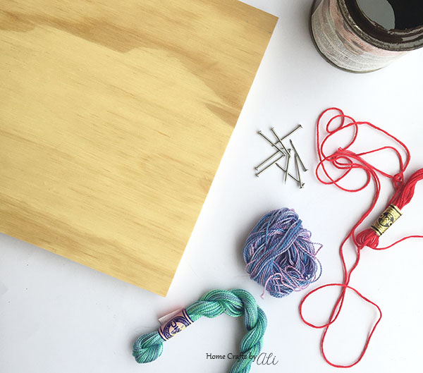 Make Your Own String Art Project with a few supplies
