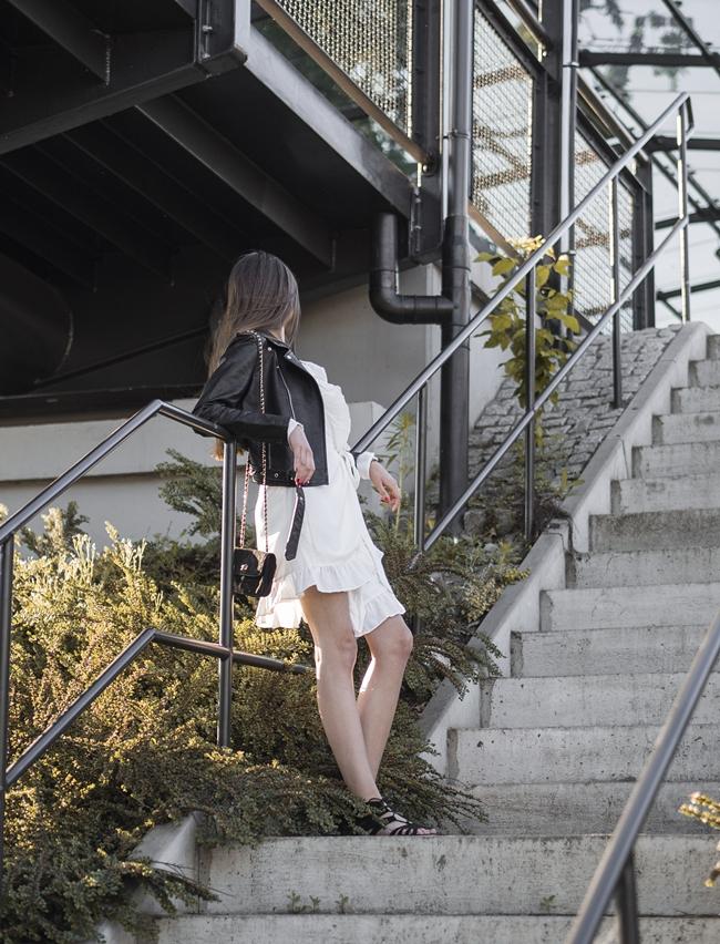 biała sukienka blog