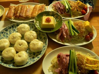 夕食の献立 献立レシピ 飽きない献立 冷やし中華セット