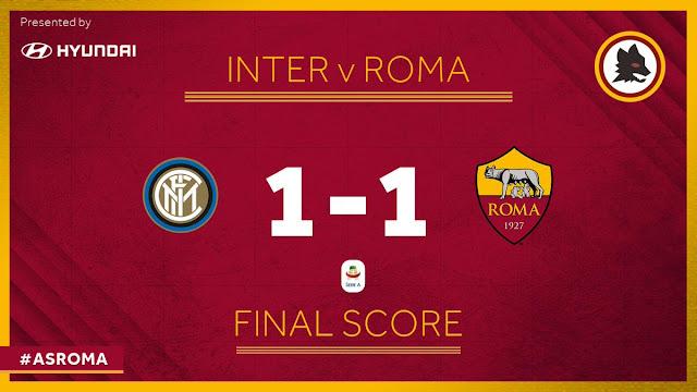الدوري الإيطالي: إنتر يتعادل على ملعبه أمام روما بـ1ـ1