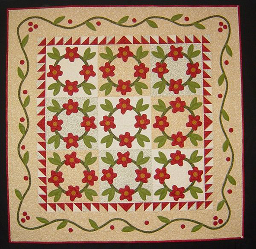 Simple Stitches Posie Wreath Quilt Free Pattern Designed by Pat Sloan