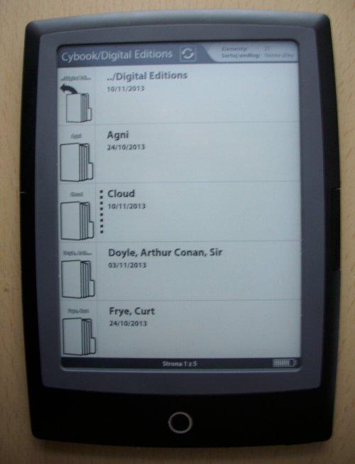 Cybook Odyssey Frontlight HD - tryb folderów