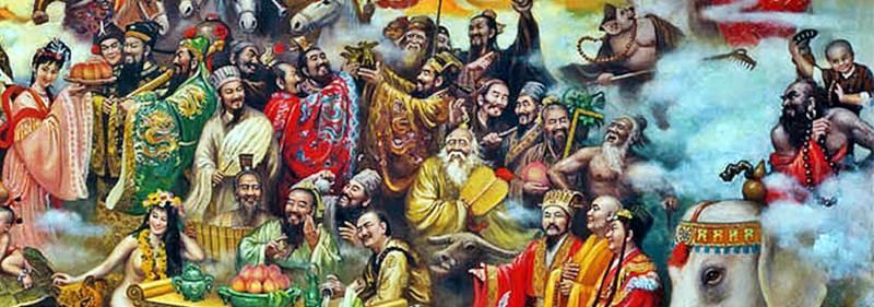 เทพธิดาหม่ากู(麻 姑), จั่นเจา(展昭), เปาปุ้นจิ้น(包公), กวนอู(關羽), จูกัดเหลียง(諸葛亮), เตียวหุย(張飛), เล่าปี่(劉備), ซุนกวน(孫權), โจโฉ(曹操), สู้อู่(蘇武), ฮั่วชี่ปิ้ง(霍去病), ปานเชา(班超), จังเหิง(張衡), ฮัวโต๋(華佗), หลี่สือเจิน(李時珍), ลู่ปัน(魯班), ปู่โง่ย้ายภูเขา(愚公), ตือโป้ยก่าย(豬悟能), ตั๊กม้อ(達摩祖師),  เณรน้อย(小沙彌), ผีสาวเปลือยซันกุ่ย(山鬼), ชวีหยวน(屈原), ขงจื้อ(孔子), ซูตงโพ(蘇軾), เฉาเสวี่ยฉิน(曹雪芹), เล่าจื้อ(老子), จางเชียน(張騫), พระอาจารย์เจี้ยนเจิ๊น(鑒真), เจิ้งเหอ(鄭和)