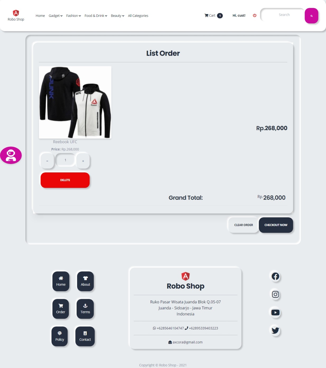 aplikasi pembuatan toko online shop