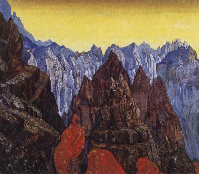 Николай Рерих - Крик змия. 1913