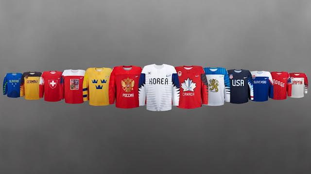 Форма джерси хоккейных сборных на Олимпиаде 2018