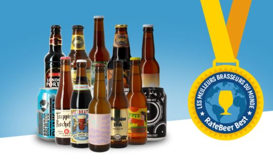 Une selection du top Ratebeer 2019 (Ratebeer Best)