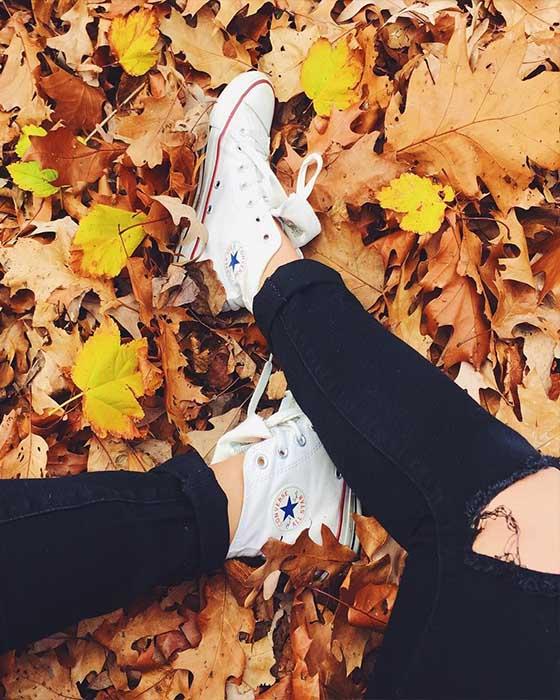 Fotos tumblr de otoño de pies
