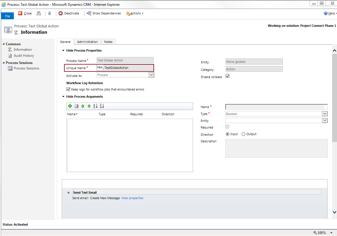 Dynamics 365: How to call a Global action from JavaScript?