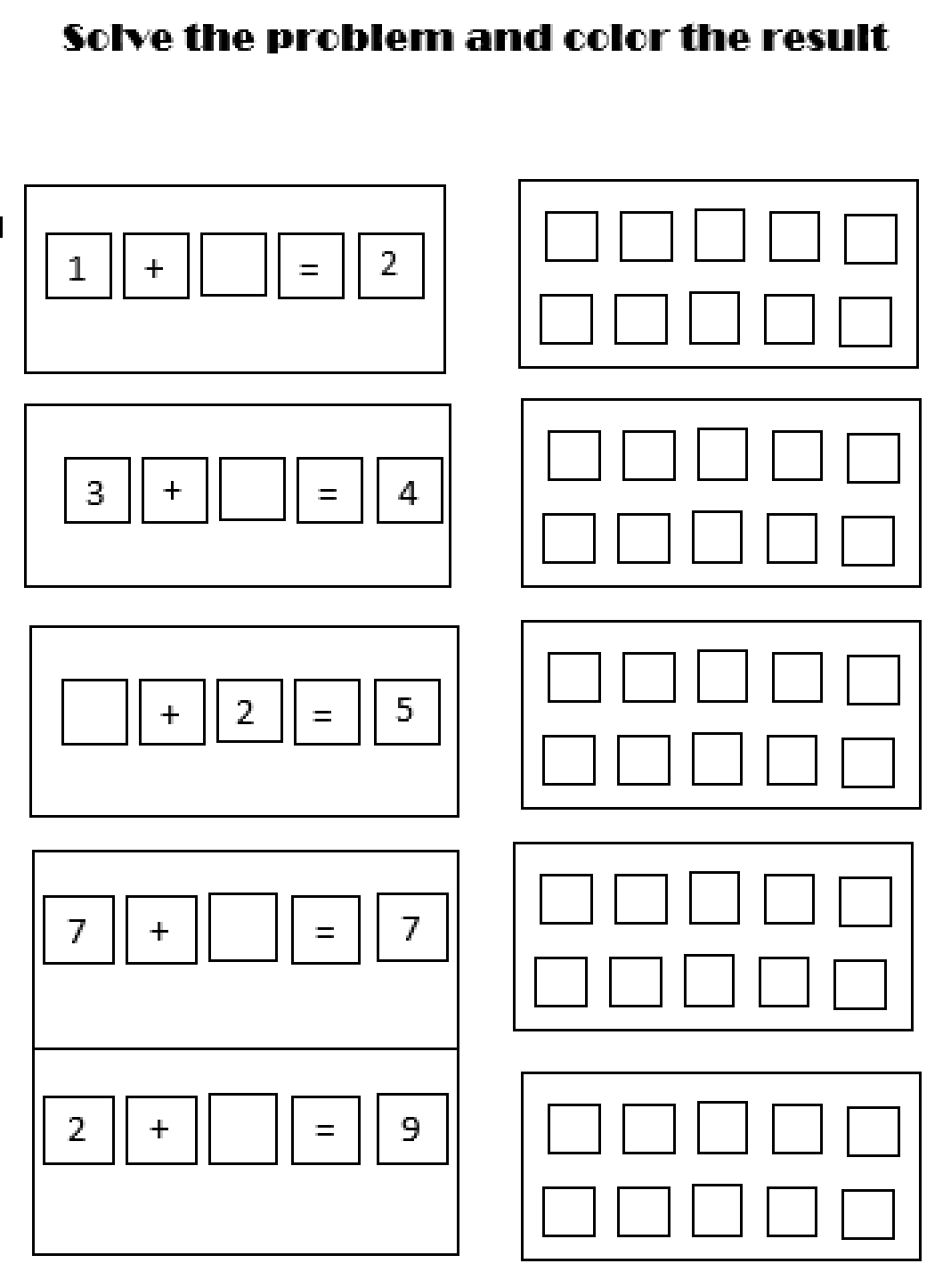 Early Education 1st Grade Addition Worksheets