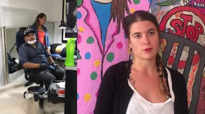 Escándalo: Mujer es tocada por un tatuador y ella se venga publicando un video en Facebook