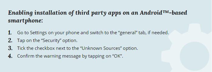 How to Downlaod Third Party Android App