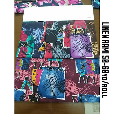 contoh kain linen rami