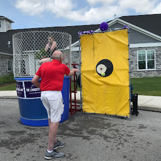 My dad hitting the dunking booth!  |  The Longest Day Event for Alzheimer's Assoc. |  Nature's INKspirations by Angie McKenzie