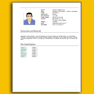 Descargar Formato Hoja de vida en Word - 006   #HojadeVida   #CurriculumVitae   #HV